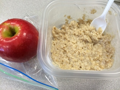 Oatmeal with vanilla protein powder