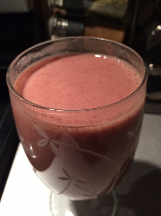 Healthy Strawberry Frappuccino.