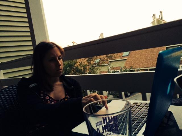 blogging outside
