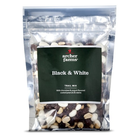 black and white trail mix